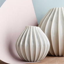 broste Rainy Day Grey Wide Fluted Garlic Vases