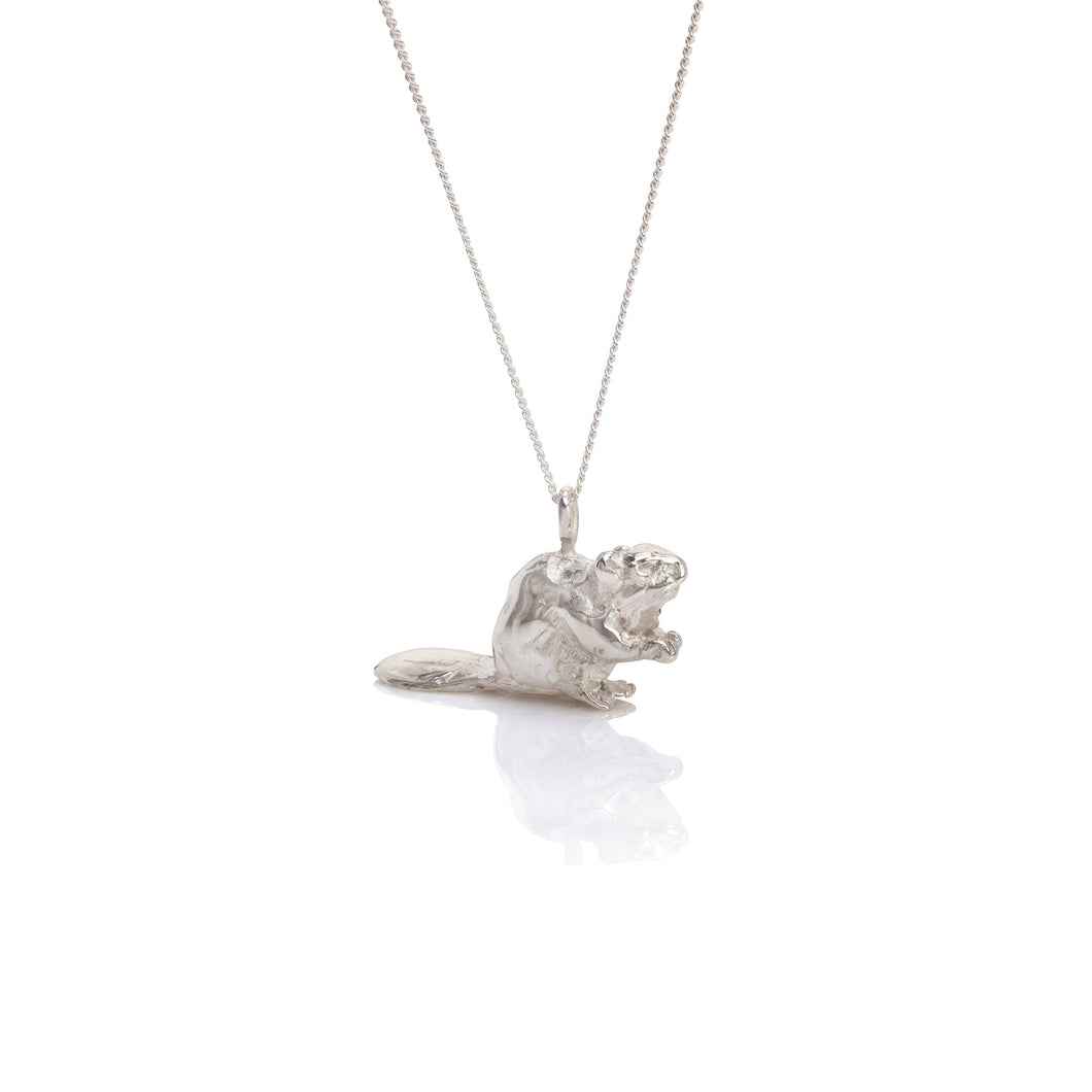 by emily silver beaver necklace