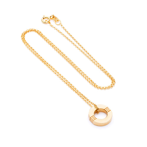 Cabbage White - Infinity necklace - Gold