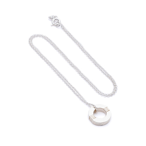 Cabbage White - Infinity necklace  - Silver