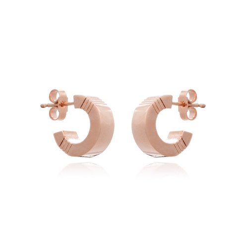 Cabbage White - Mini infinity hoops - Rose Gold