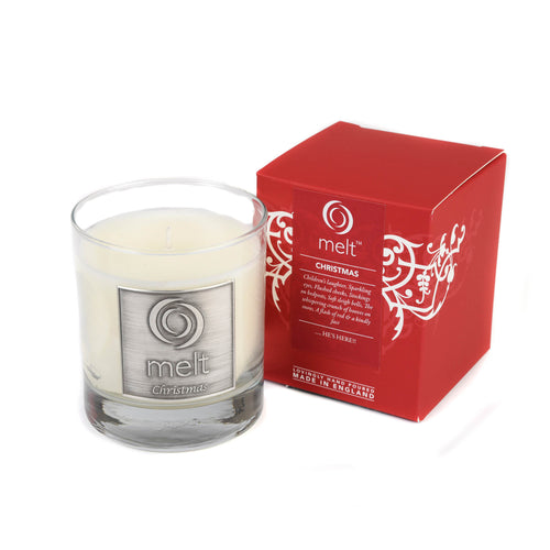 christmas scented luxury glass jar candle by melt