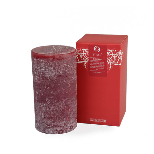 christmas scented tall fat pillar candle by melt