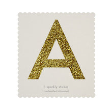 chunky sparkly sticker A