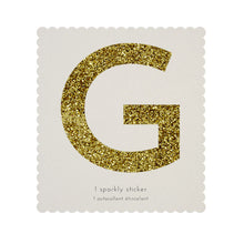 chunky sparkly sticker G