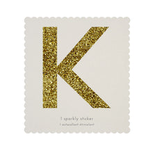 chunky sparkly sticker K