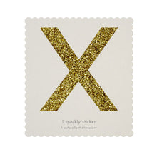 chunky sparkly sticker X
