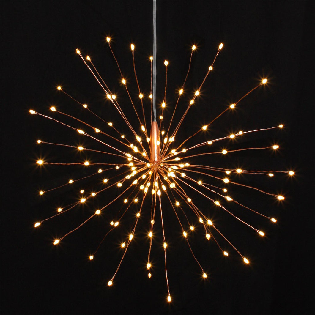 copper hanging starburst light decoration