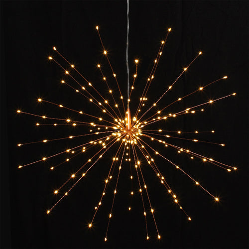 copper hanging starburst light decoration large