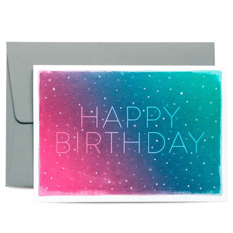 Duke & Rabbit - Cosmos Happy Birthday Card