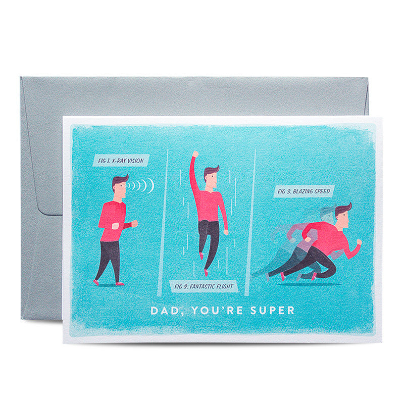 Duke & Rabbit - Dad, you're super Card