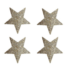 delight department festive glass star glitter sticker gold