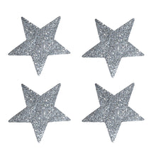 delight department festive glass star glitter sticker silver