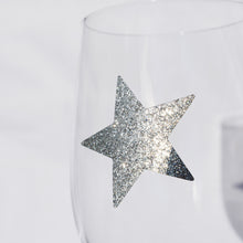 delight department festive glass star glitter sticker silver close