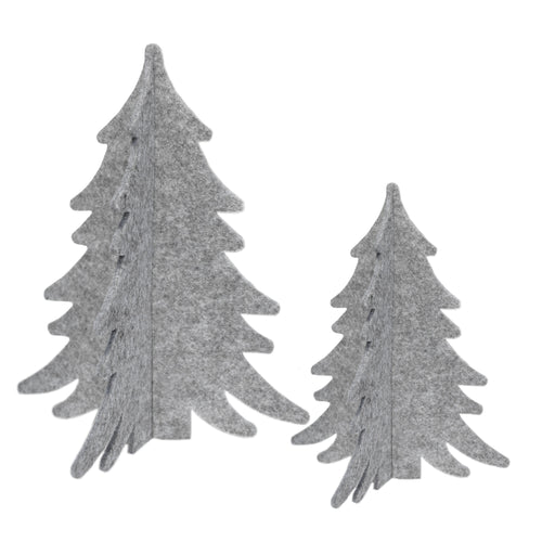 delight department festive nordic felt trees set