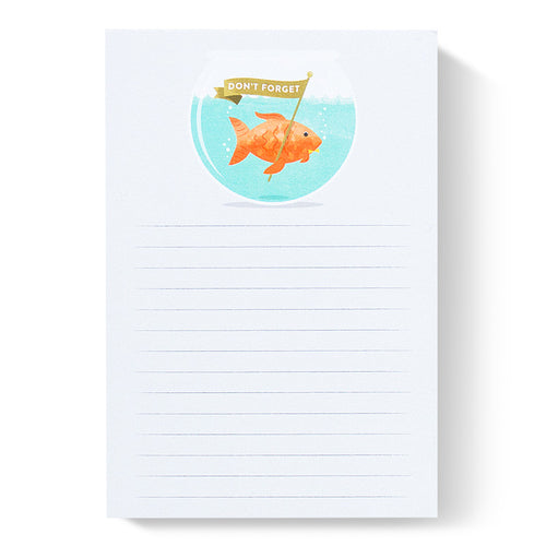 Duke & Rabbit - Don't Forget Goldfish Notepad