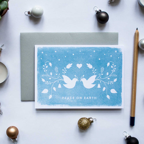 duke and rabbit christmas card boxed set peace on earth doves