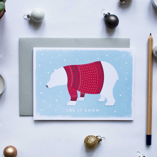 duke and rabbit christmas card boxed set polar bear jumper