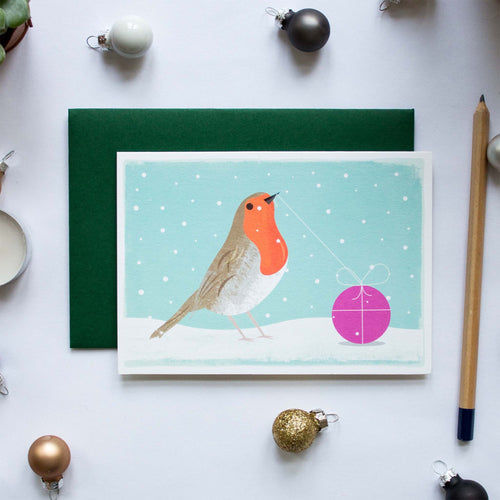 duke and rabbit christmas card boxed set robin present