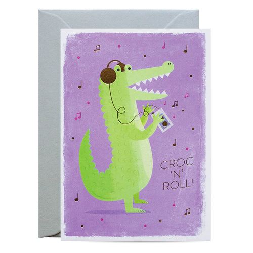 Duke & Rabbit - Croc 'N' Roll Card