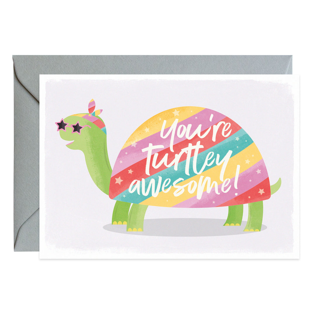 Duke & Rabbit - You're Turtley Awesome! Card