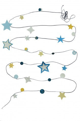 Engel - Glow in the dark star garland