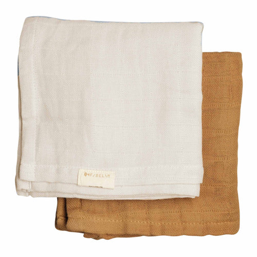 Fabelab - Muslin Cloth - 2 Pack - Fawn