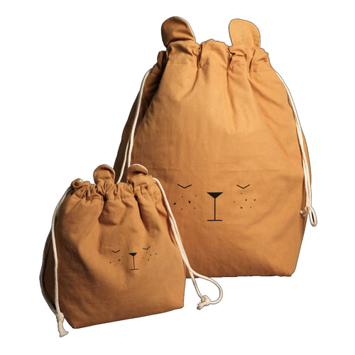Fabelab - Storage Bag - Bear - Ochre
