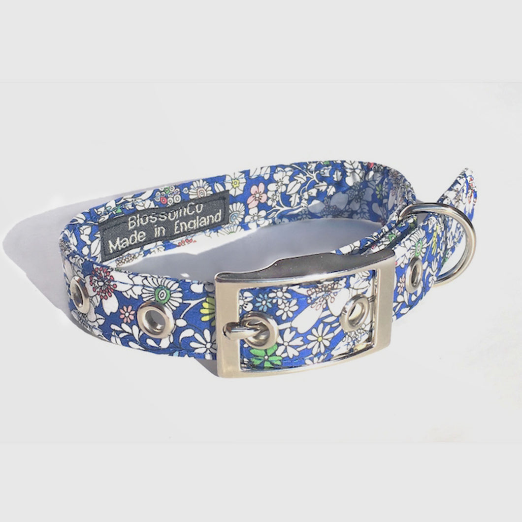 floral June Meadow Liberty print dog collar
