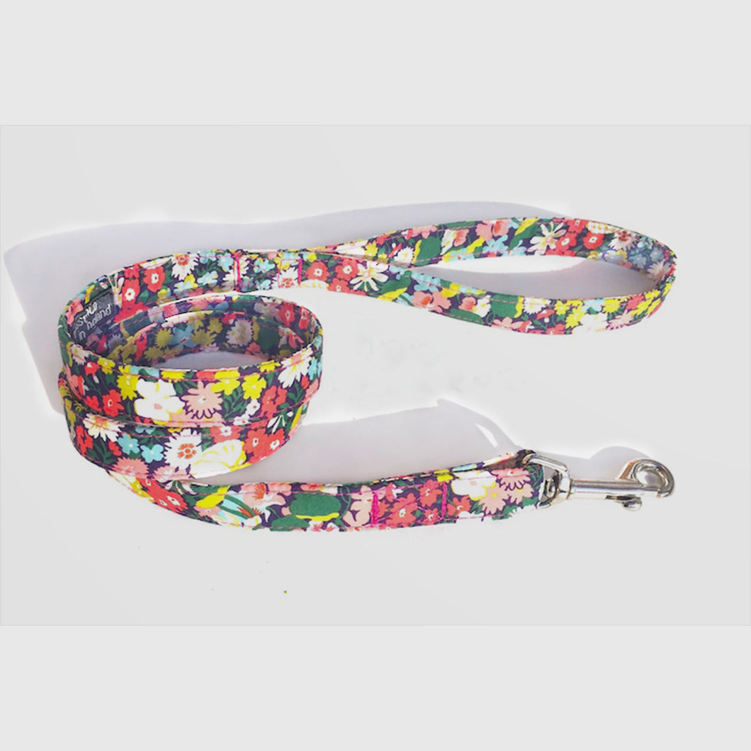 floral Thorpe Liberty print dog lead