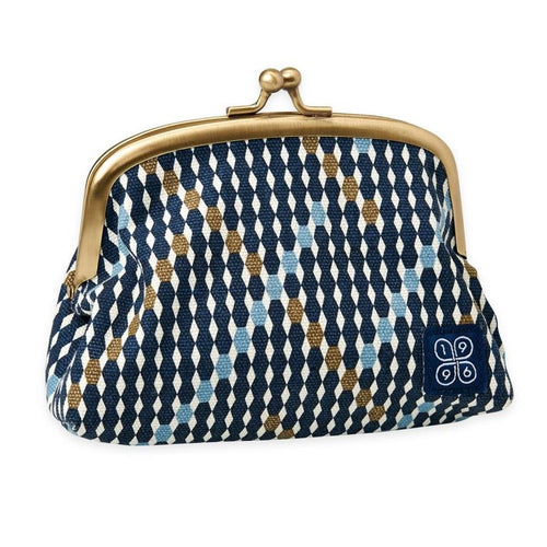 traditional navy canvas purse