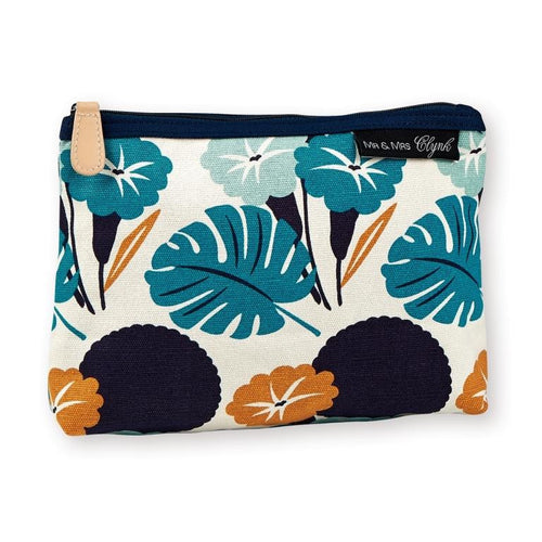 Mr & Mrs Clynk - Make-up pouch - silk-screened canvas - Jungle