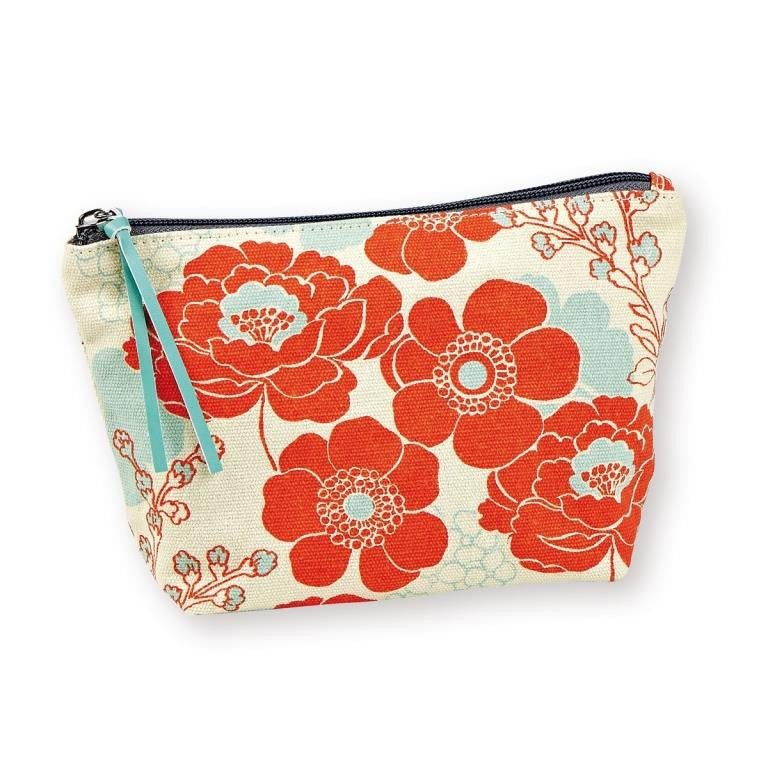 Mr & Mrs Clynk - Make-up pouch - Flowers - silk-screened canvas