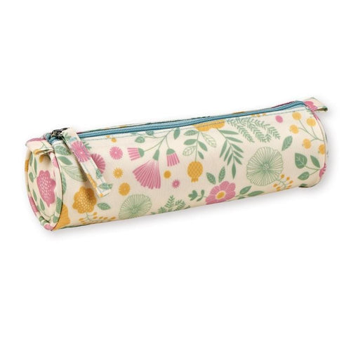 Mini Labo - Pencil case - silk-screened coated cotton - Bouquet