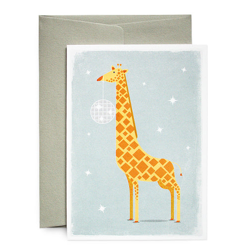 Duke & Rabbit - Giraffe Disco Ball Card