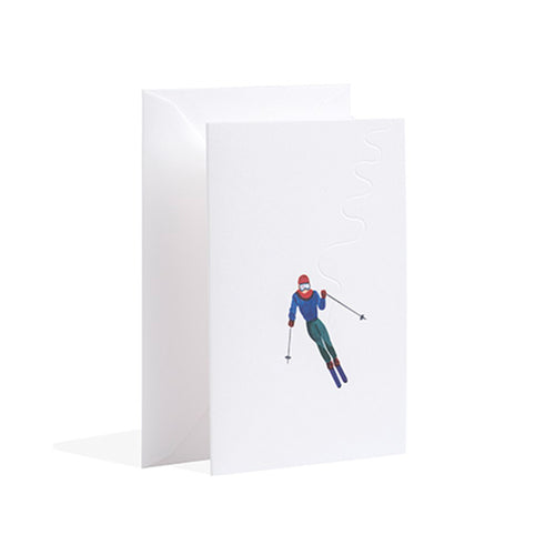 Gmund - Alpine skiing Christmas Card
