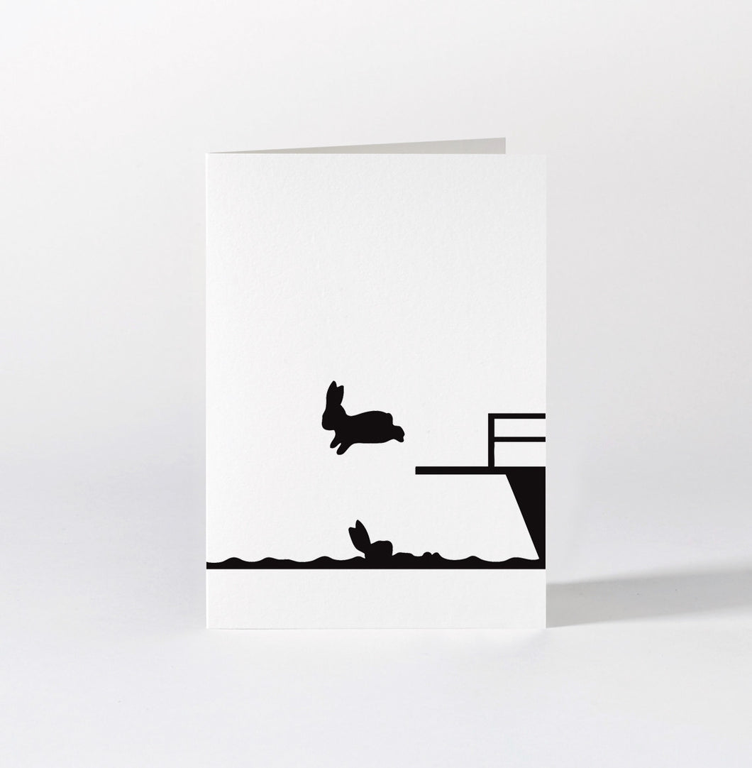 HAM - Diving Rabbit Card