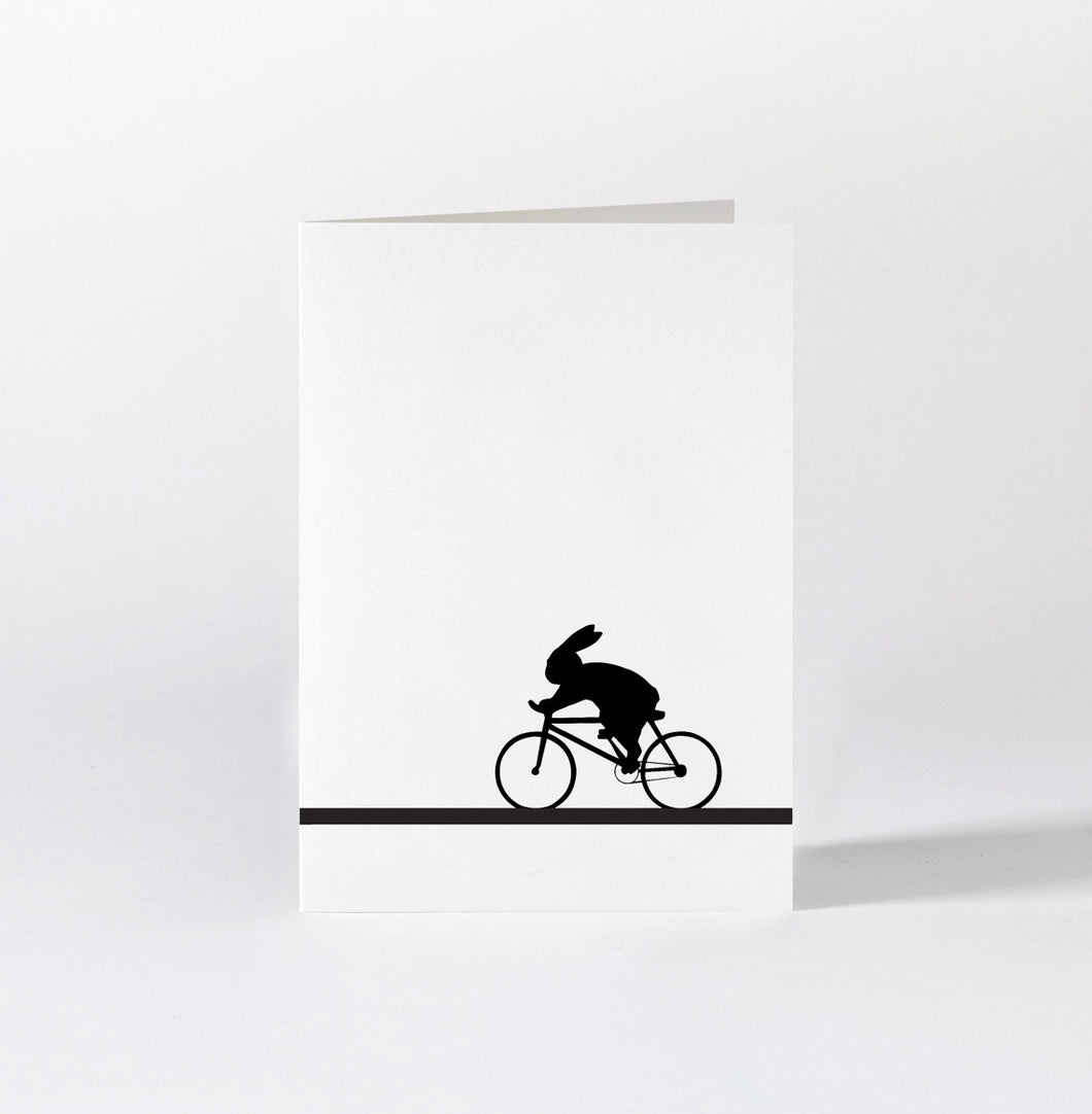HAM - Racing Bike Rabbit Card