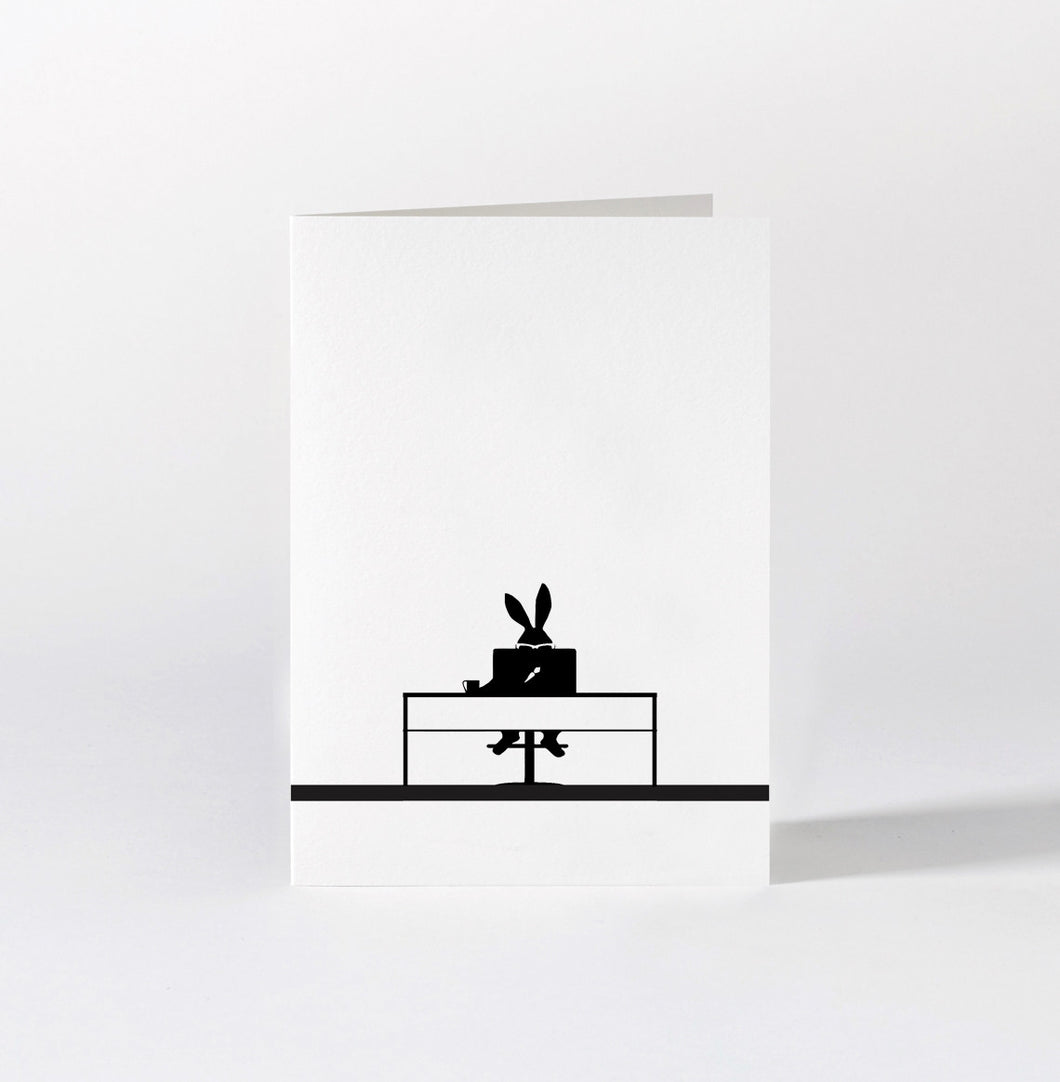HAM - Working Rabbit Card