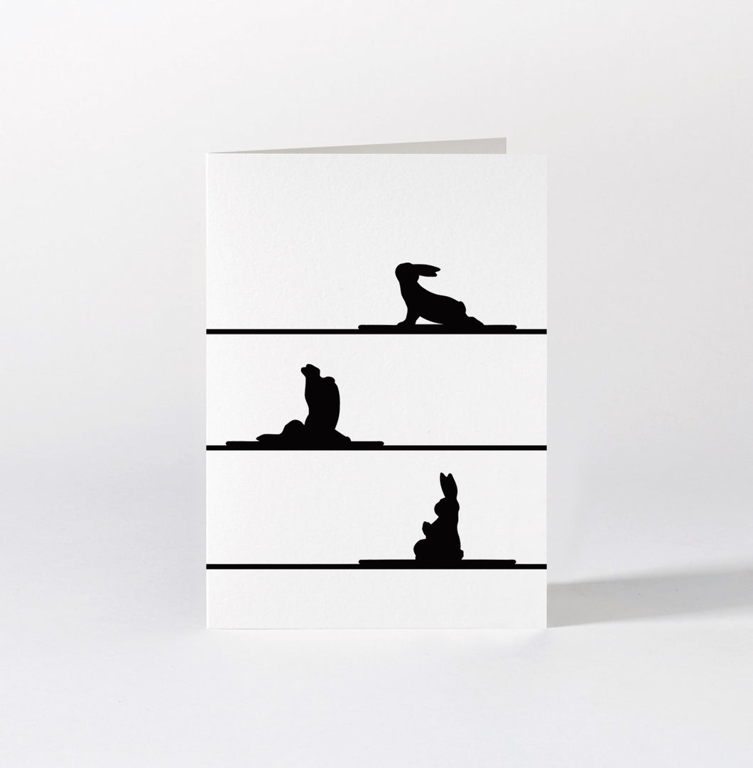 HAM - Yoga Rabbit Card