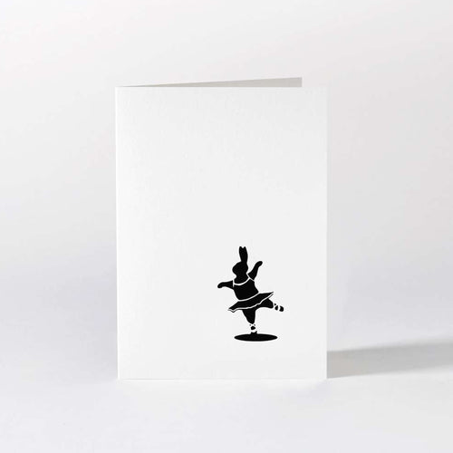 HAM - Ballet Dancing Rabbit Card