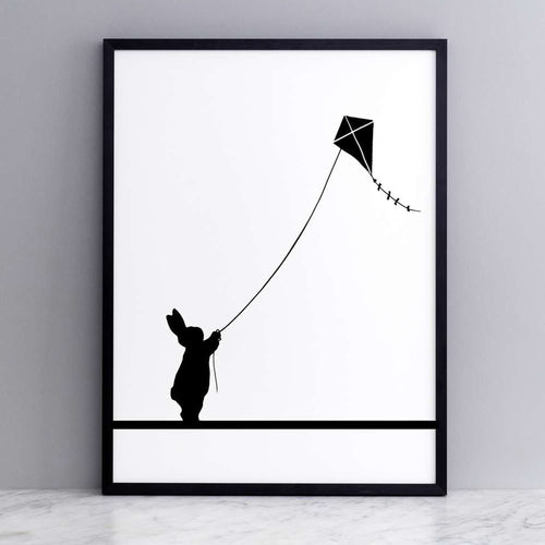 HAM - Kite Flying Rabbit Print