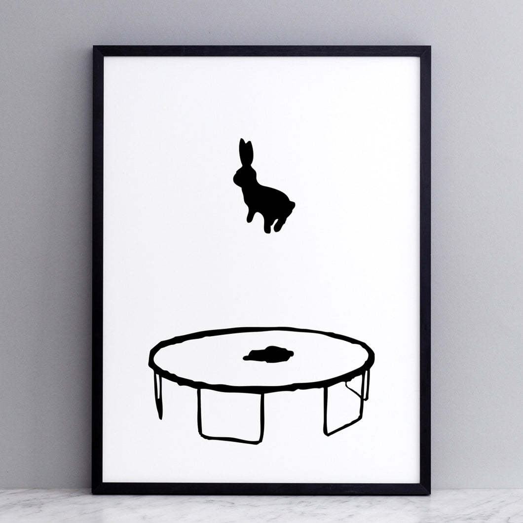 HAM - Bouncing Rabbit Print