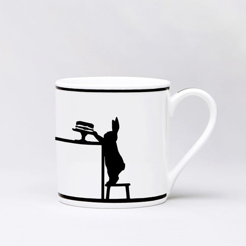 ham cake loving rabbit mug front
