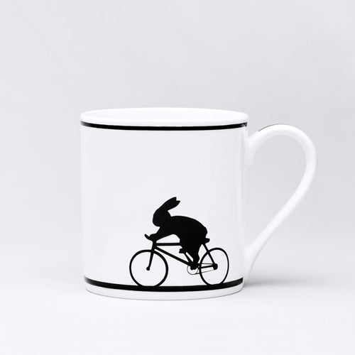ham cycling rabbit mug back