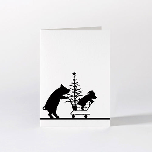ham pig christmas shopping card