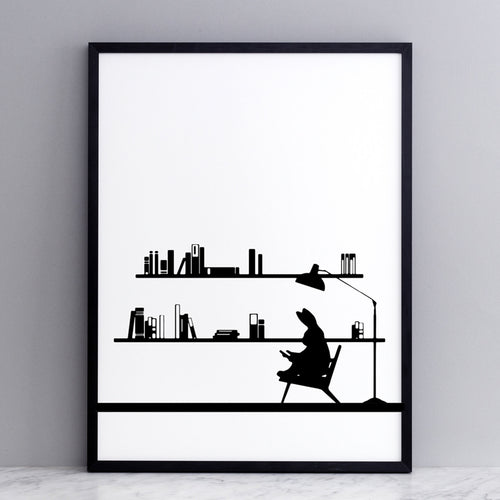 HAM - Reading Rabbit Print