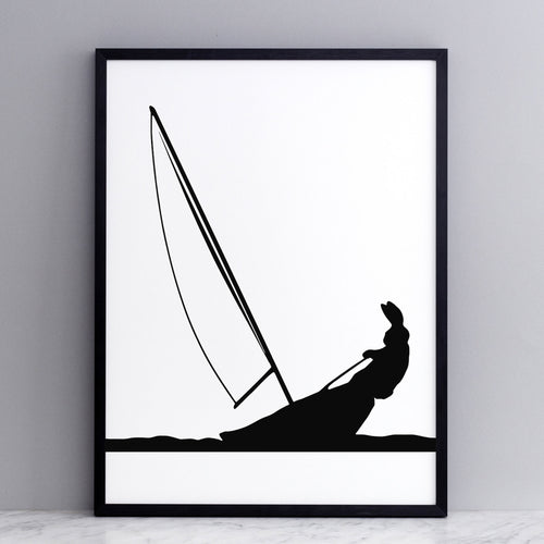 HAM - Sailing Rabbit Print