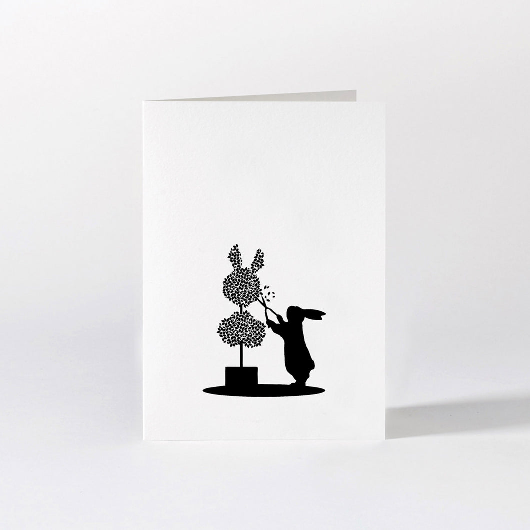 HAM - Topiary Rabbit Card