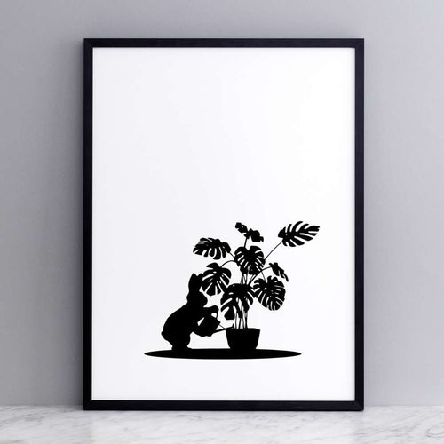 HAM - Watering Rabbit Print